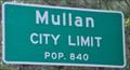 Image for Mullan, Idaho ~ Population 840