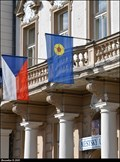 Image for Jindrichuv Hradec - municipal flag on Municipal office / Mestský urad - Jindrichuv Hradec (South Bohemia)