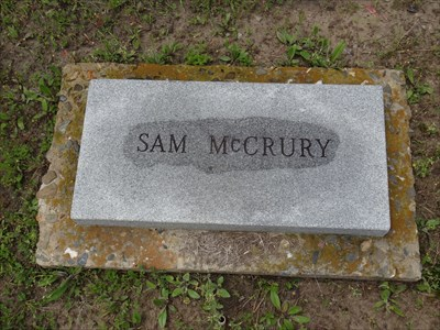 Sam McCrury, referenced on the historical marker