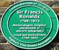 Image for Sir Francis Ronalds - Highbury Terrace, London, UK