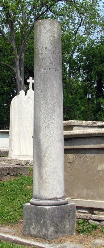 Stone Cemetery Columns : Vallé memorial cemetery ste genevieve missouri