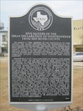 Image for Five Signers of the Texas Declaration of Independence from Red River County