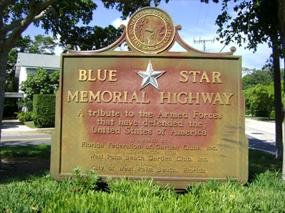 South Olive Prospect Park West Palm Beach Fl Blue Star Memorial Highway Markers On