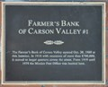 Image for Farmer's Bank of Carson Valley #1