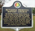 Image for Rutledge Primitive Baptist Church