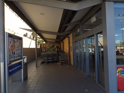 The entry for the ALDI Store, in Clinton Lane, Goulburn, NSW