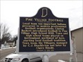 Image for Indiana Historical Marker - Pine Village Football