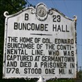 Image for Buncombe Hall, Marker B-23
