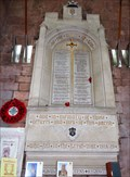 Image for Great War Memorial - Shrewsbury Abbey - Shropshire, UK.
