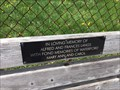 Image for Alfred & Frances Langs Bench - Waterford, ON