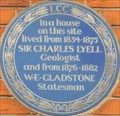 Image for Sir Charles Lyell and William Gladstone - Harley Street, London, UK