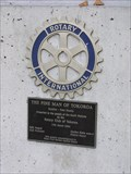 Image for Rotary plaque on The Pine Man, Tokoroa. New Zealand.