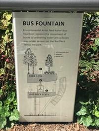 Bus Fountain Sign, San Francisco, California