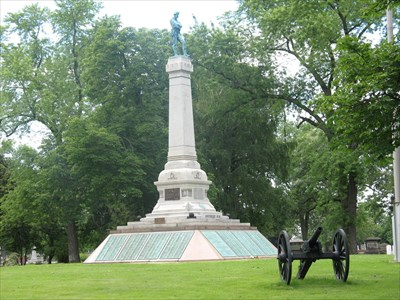 The Confederate Mound Monument Oak Woods Cemetery