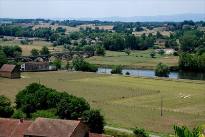 View from the village Iguerande