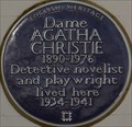 Image for Dame Agatha Christie - Sheffield Terrace, London, UK