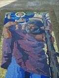 Image for Sv. Krištof  - mozaika na kostele Svatého Ducha, Slavonice, CZ