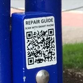 RepairSTAN at Kirkbride Hall - QR Code link to online help
