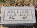 Image for 100 - Effie T. Signs - Summit View Cemetery - Guthrie, OK