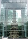 Wongaksa Pagoda, National Treasure No. 2, is encased in a protective cover of lucite.