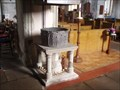 Image for Stone Font Stand, St Margaret of Antioch Church, Lower Halsow, Kent, UK