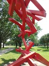 Random Red Bars - Loch Haven Park, Orlando, Florida, USA.