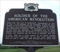 Image for Soldier of the American Revolution Historical Marker