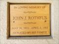 Image for John. J. Rothfus - Fort Harrison, Montana