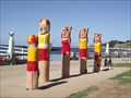 Image for Eastern Beach Lifesavers Bollards - Geelong Waterfront, Victoria, AU