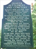 Image for Quaker Settlement & Cemetery, Barry County Mi.