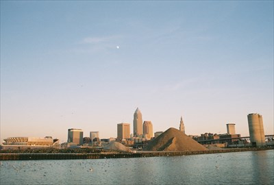 Cleveland as seen from Wendy Park.  This shot was taken from a little closer to the old Coast Guard Station