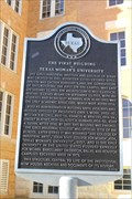 Image for FIRST -- Building at Texas Woman's University, Denton TX