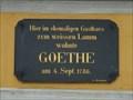 Image for Johann Wolfgang von Goethe - Regensburg - Bavaria / Germany