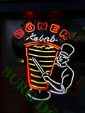 Image for Burg Döner - Döner Kebab Neon Sign - Hamburg, Germany