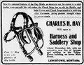 Image for Charles Hay Harness and Saddlery Shop - Lewistown, MT - 1910
