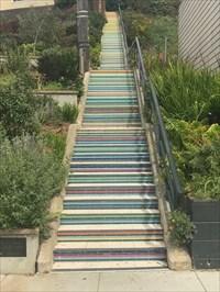 Athens Avalon Greenspace Stairway, San Francisco, California