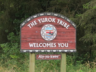 Yurok Tribe Welcome Sign