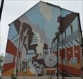 Image for Railway station mural - Market Street, Morecambe, Lancashire, UK.