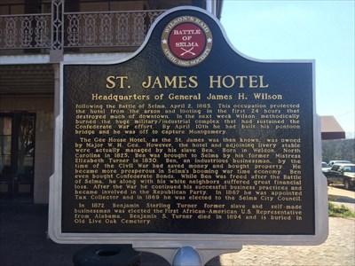 St James Hotel Selma Al Alabama Historical Markers On Waymarking