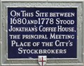Image for Jonathan's Coffee House - Change Alley, London, UK