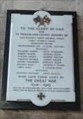 Image for Memorial Plaque -  St Remigus - Long Clawson, Leicestershire