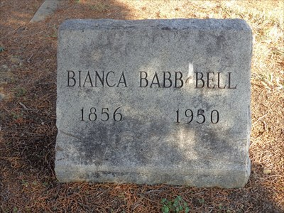 Subject of her own waymark and two historical markers, Bianca Babb was an Indian captive in the late 19th century.