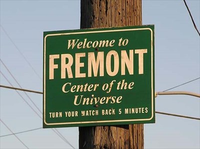 Image result for fremont center of the universe sign