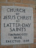 Image for 1898 - Timpanogos Ward of The Church of Jesus Christ of Latter-day Saints - Orem, UT