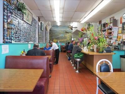 Interior View, New Village Cafe, San Francisco, California