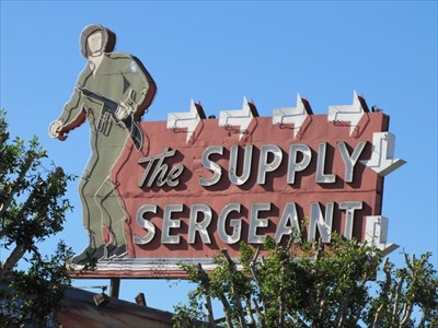 Supply Sergeant Sign, Los Angeles