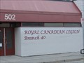 "Image for ""Royal Canadian Legion Branch #40"" - Penticton, British Columbia"