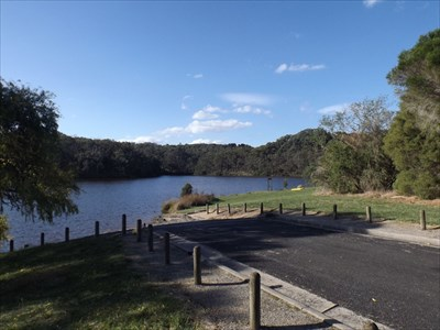 Part of the lake as viewed from the car park at Henleys Picnic Area.