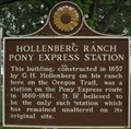Image for Hollenberg Ranch Pony Express Station - Hanover, Kansas