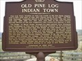 Image for Old Pine Log Indian Town-Bartow Co., GA.